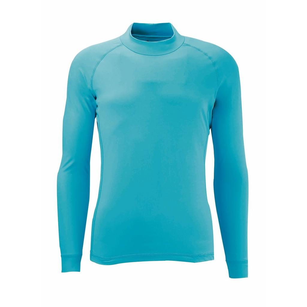 【Wildland 荒野】男透氣排汗抗UV長袖上衣 W1692-73水藍色 休閒服/快乾機能衣/團體服 /吸濕/野雁生活