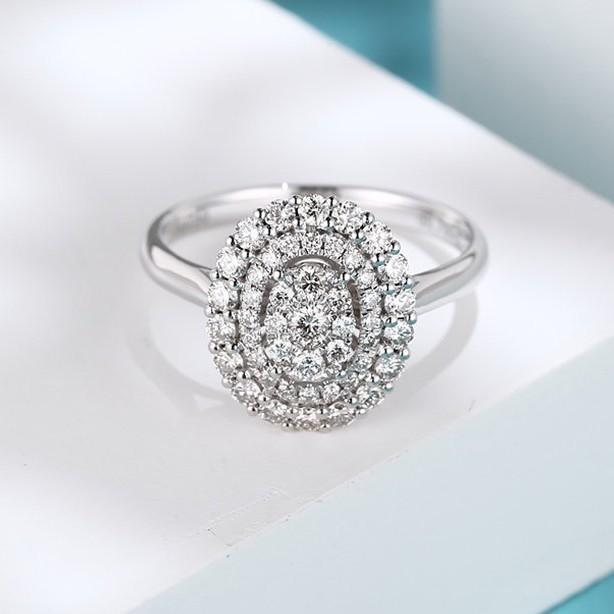 璽朵珠寶 [ 18K金 橢圓 鑽石 戒指 ] 微鑲工藝 精品設計 鑽石權威 婚戒顧問 婚戒第一品牌 鑽戒 婚戒 GIA