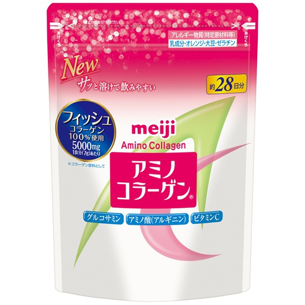 Meiji 明治 膠原蛋白粉28日份袋裝196g(附湯匙)