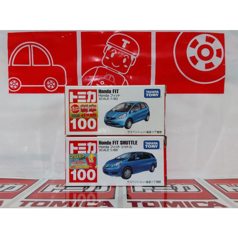 TOMICA No.100 Honda FIT