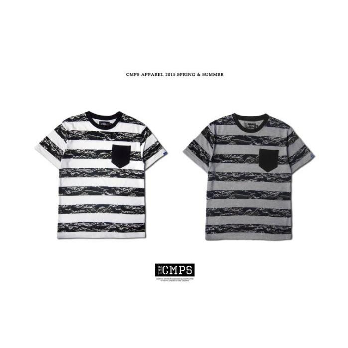 CMPS 15S/S 美式 迷彩橫紋潮流短T 短袖上衣 CAMO STRIPES TEE【 GIANT MALL 】
