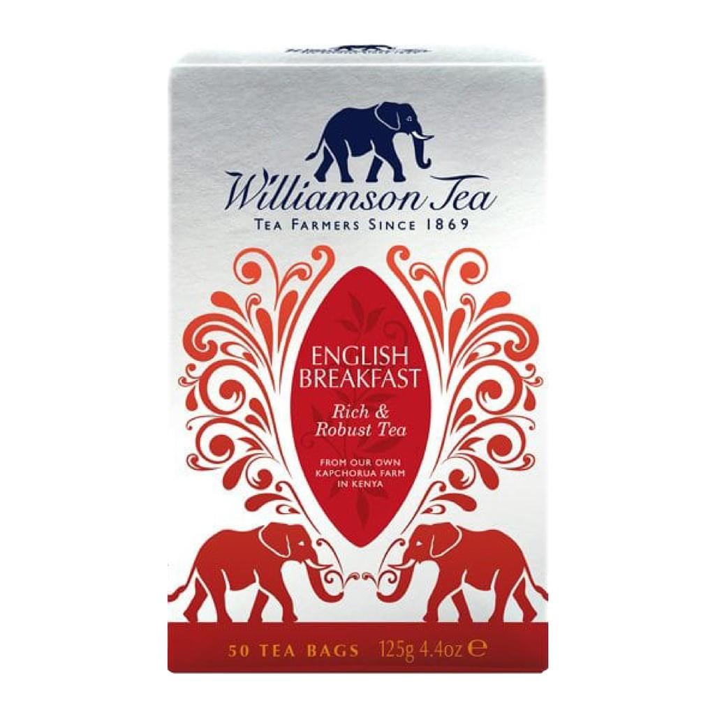 威廉森茶-英式早餐茶ENGLISH BREAKFAST / 圓片茶包系列(50個圓片茶包)