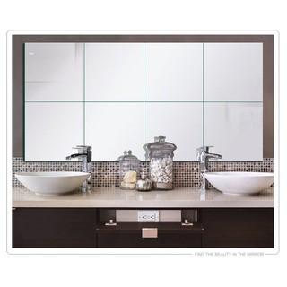 GF-099【鏡面貼1mm(厚)】鏡面貼帶背膠 鏡貼 鏡面牆 方塊鏡面牆貼 居家創意 創意玻璃鏡貼 臺南市