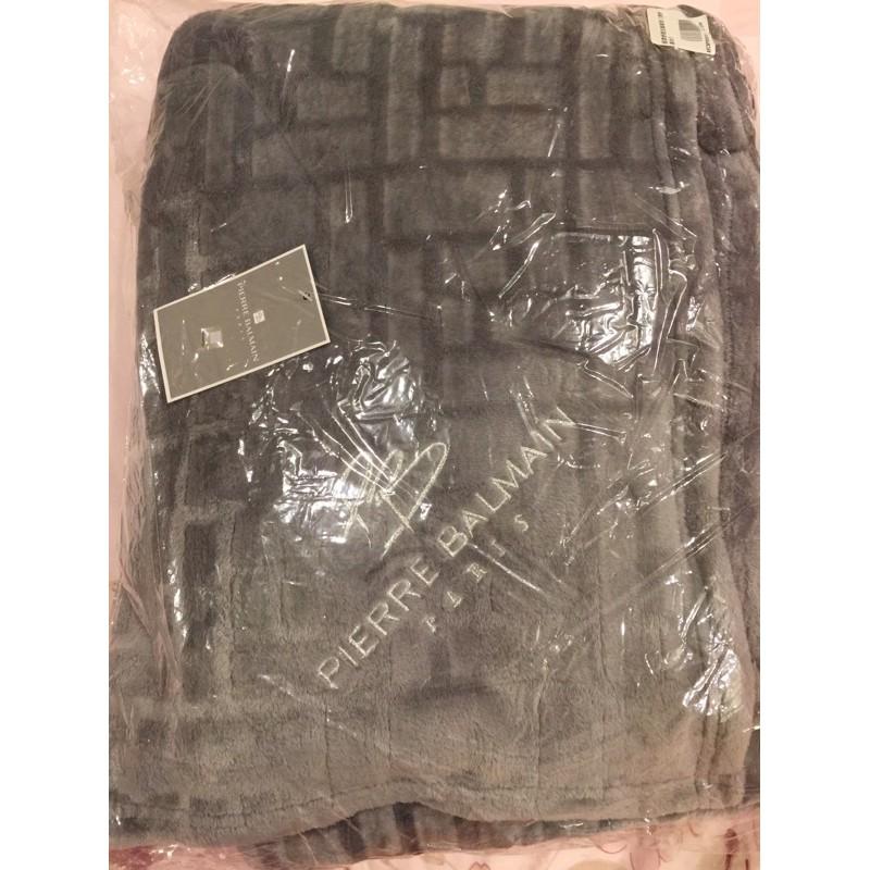 法國(現貨)【Pierre Balmain皮爾帕門】 四季毛毯 -灰色