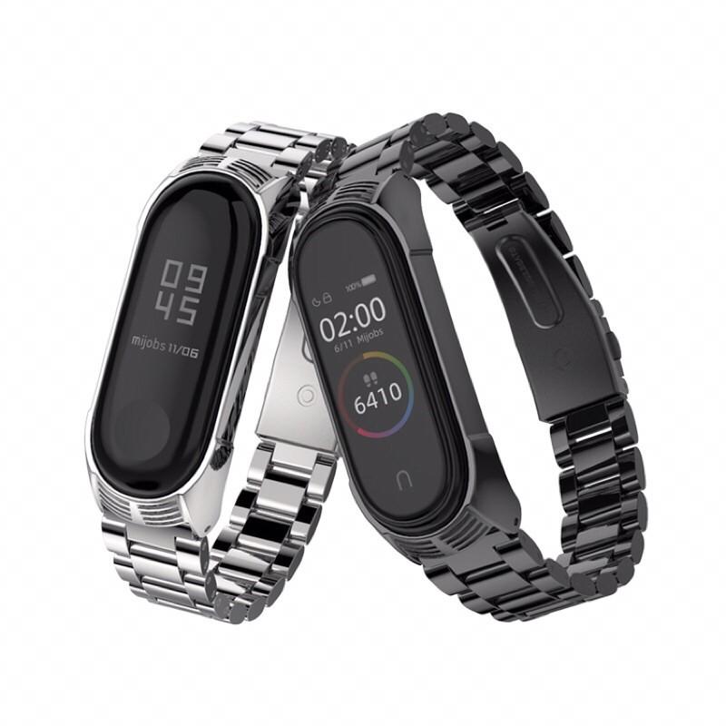米布斯 TF 三珠 小米手環6 小米手環5 小米手環4 替換 錶帶 腕帶 小米手環3 不锈鋼 金屬 三株 小米5 小米6
