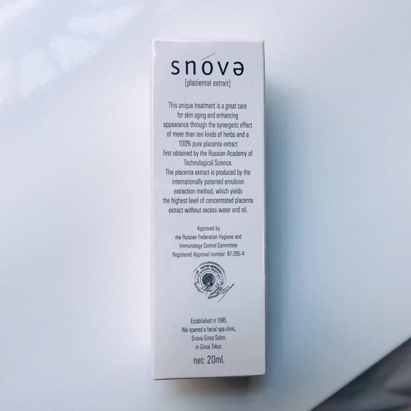 【全新公司貨】Snova絲若雪胎盤素逆齡亮白精華液 20ml