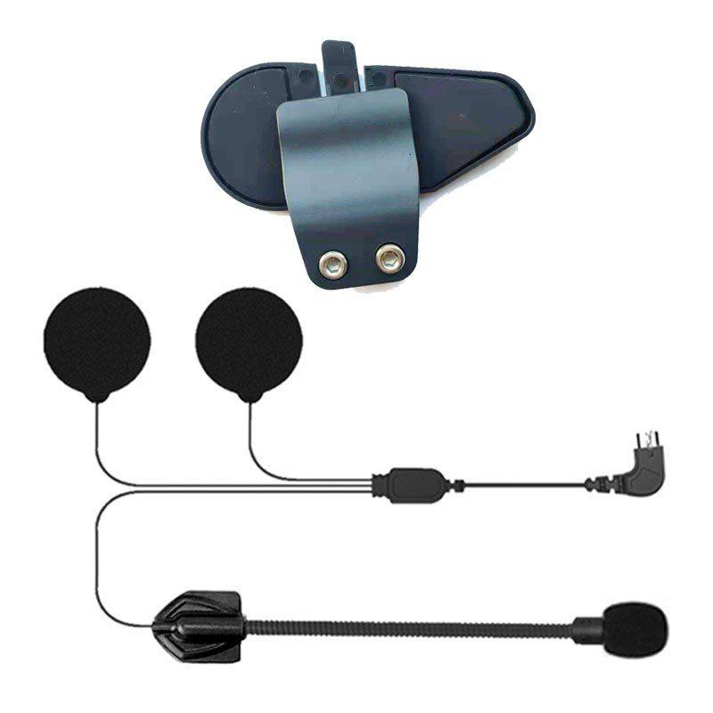 (全場5折)(全場5折)原裝 Maxto M3 / M2 摩托車頭盔對講機耳機配件, 帶硬質麥克風 + 固定夾