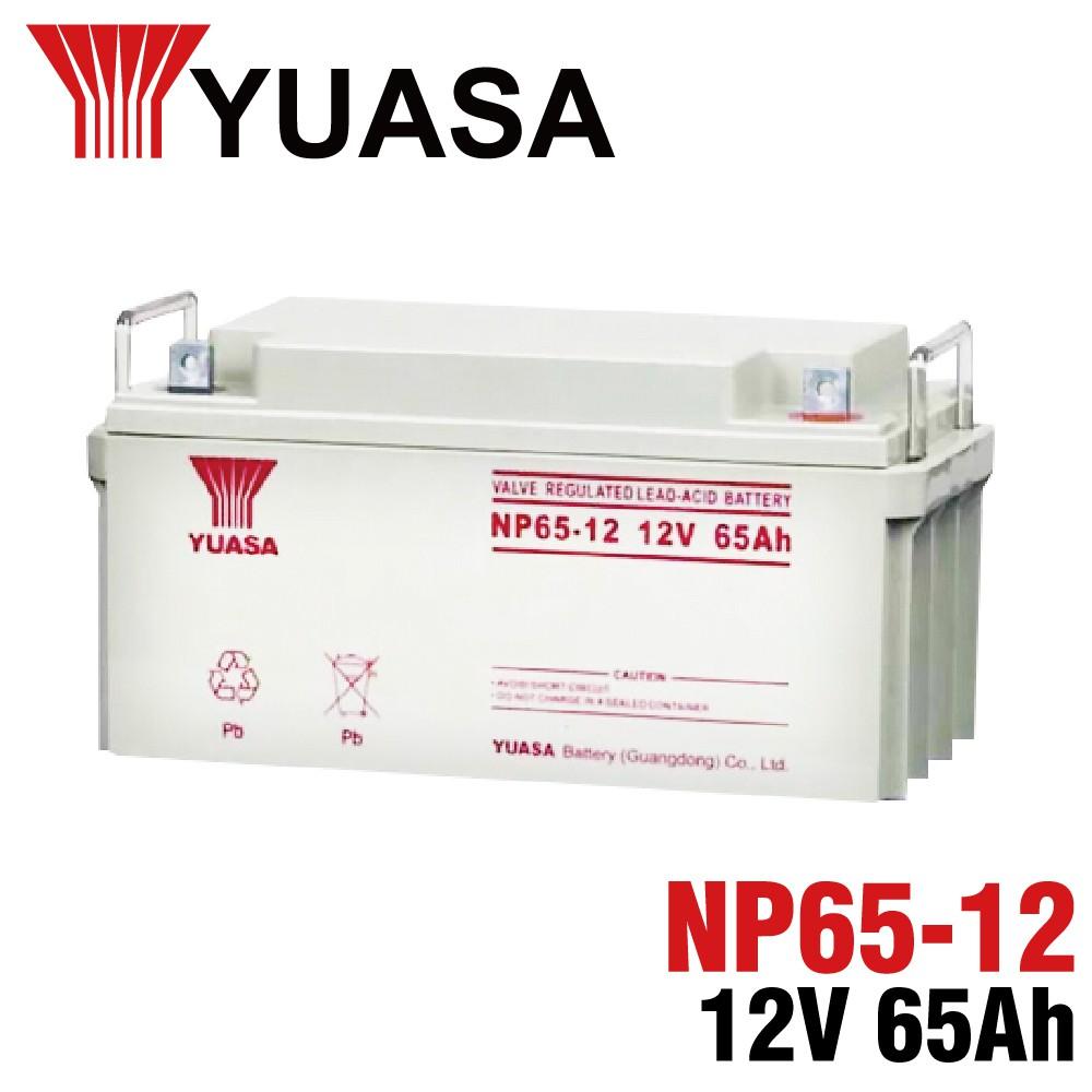 【YUASA】湯淺 NP65-12鉛酸電池12V65Ah 通訊機房 UPS電池 緊急設備 警報系統 安全系統 保全系統