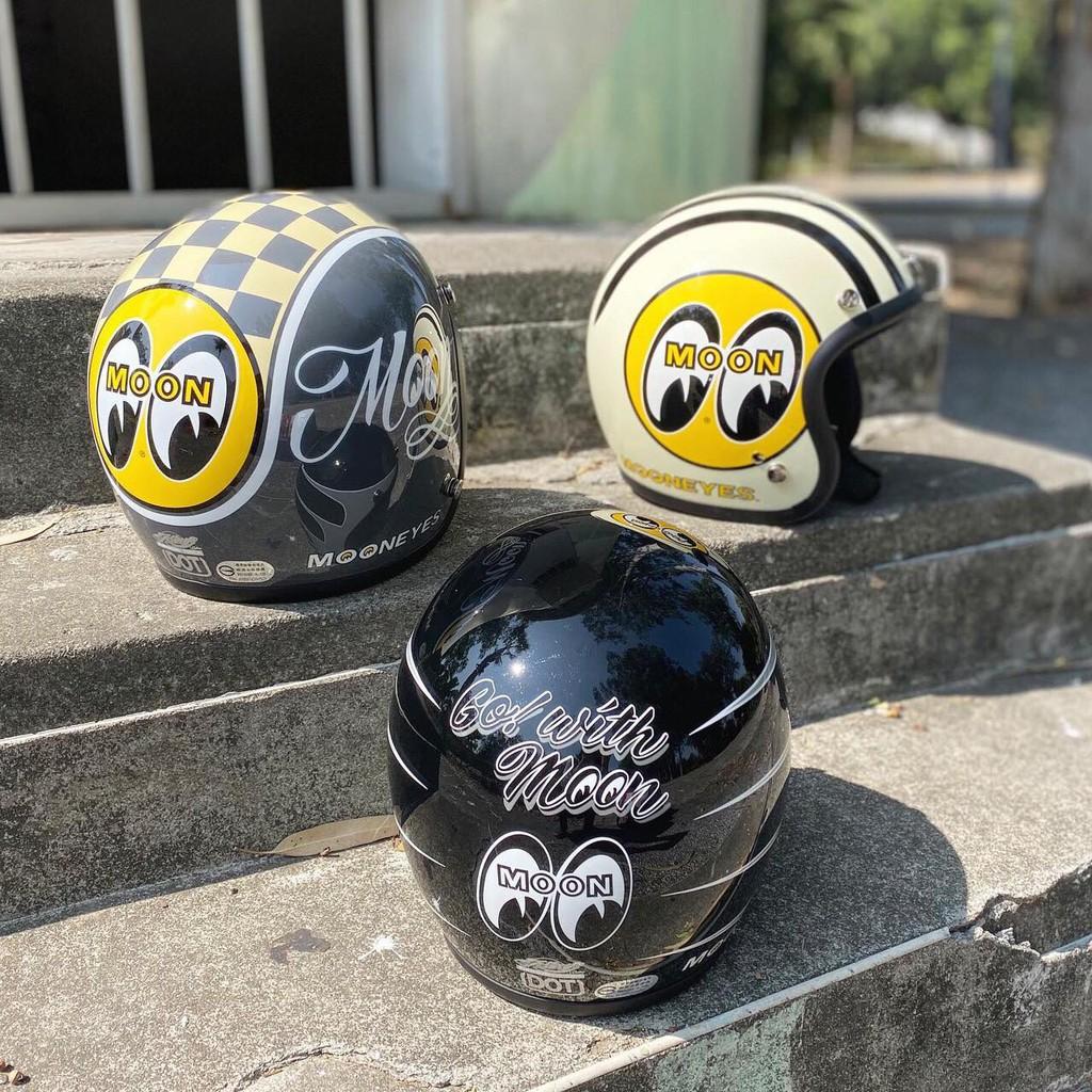【MOONEYES】 Gallop X MOONEYES 聯名限定安全帽 窄版小帽體 水泥灰下單處