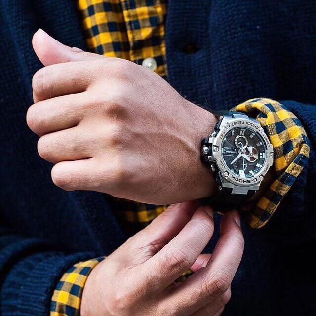卡西歐 G-Shock Gst-B100-1A 手錶男士手錶