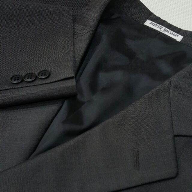 皮爾帕門西裝外套52號 鐵灰色 新鮮人必備 單排三扣 Pierre Balmain 容元西裝外套 大尺碼西裝外套