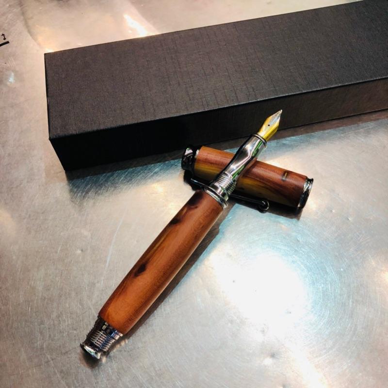 鋼筆 鋼珠筆 龍柏 紫心木 木之筆藝 手工製作