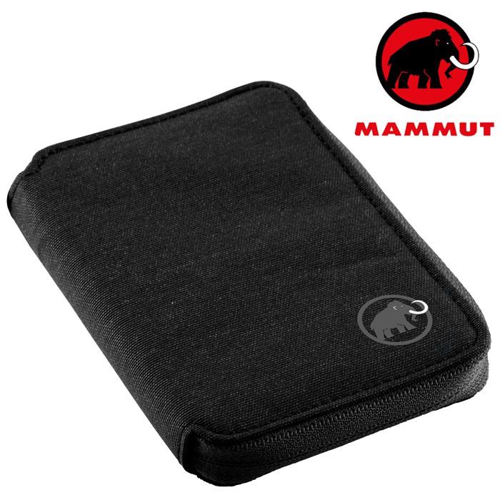 【Mammut 長毛象 瑞士】Zip Wallet 拉鍊錢包 皮夾 黑色 (00720-0001)