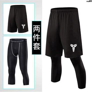 褲訓練長打底科比跑步運動壓縮褲籃球〞七分男7緊身速干分褲健身nba︸