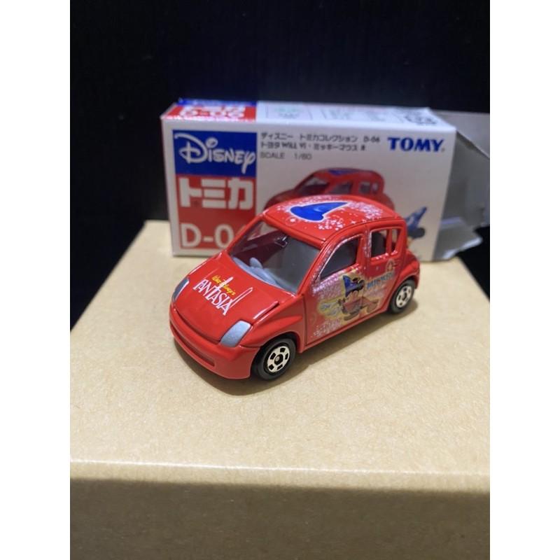 (二手)車全新 盒況如圖 TOMICA 迪士尼 魔法 米奇 D-06 TOYOTA Will 紅