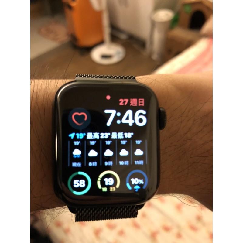 Apple Watch S5不銹鋼黑米蘭40MM LTE