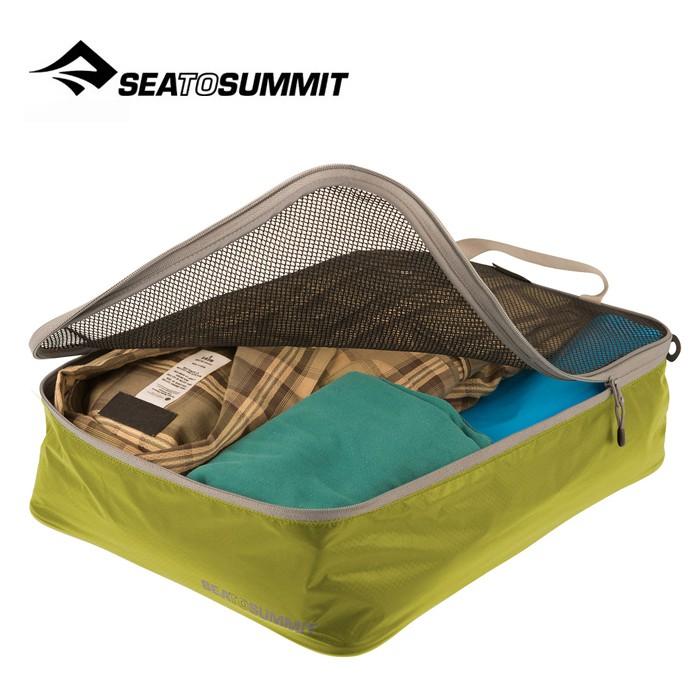 【Sea To Summit 澳洲】旅行打理包 衣物打理包 M號 萊姆綠/淺灰 (ATLGMBM)