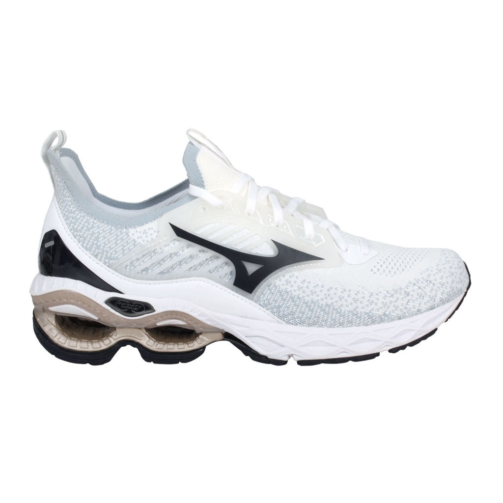 MIZUNO WAVE CREATION 22 WAVEKNIT 男慢跑鞋(「J1GC213390」 白黑金