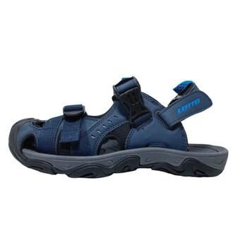 英德鞋坊~LOTTO樂得-義大利第一品牌 男款兩穿式戶外運動護趾涼鞋 涼拖鞋 [LT9AMS0186] 藍590元
