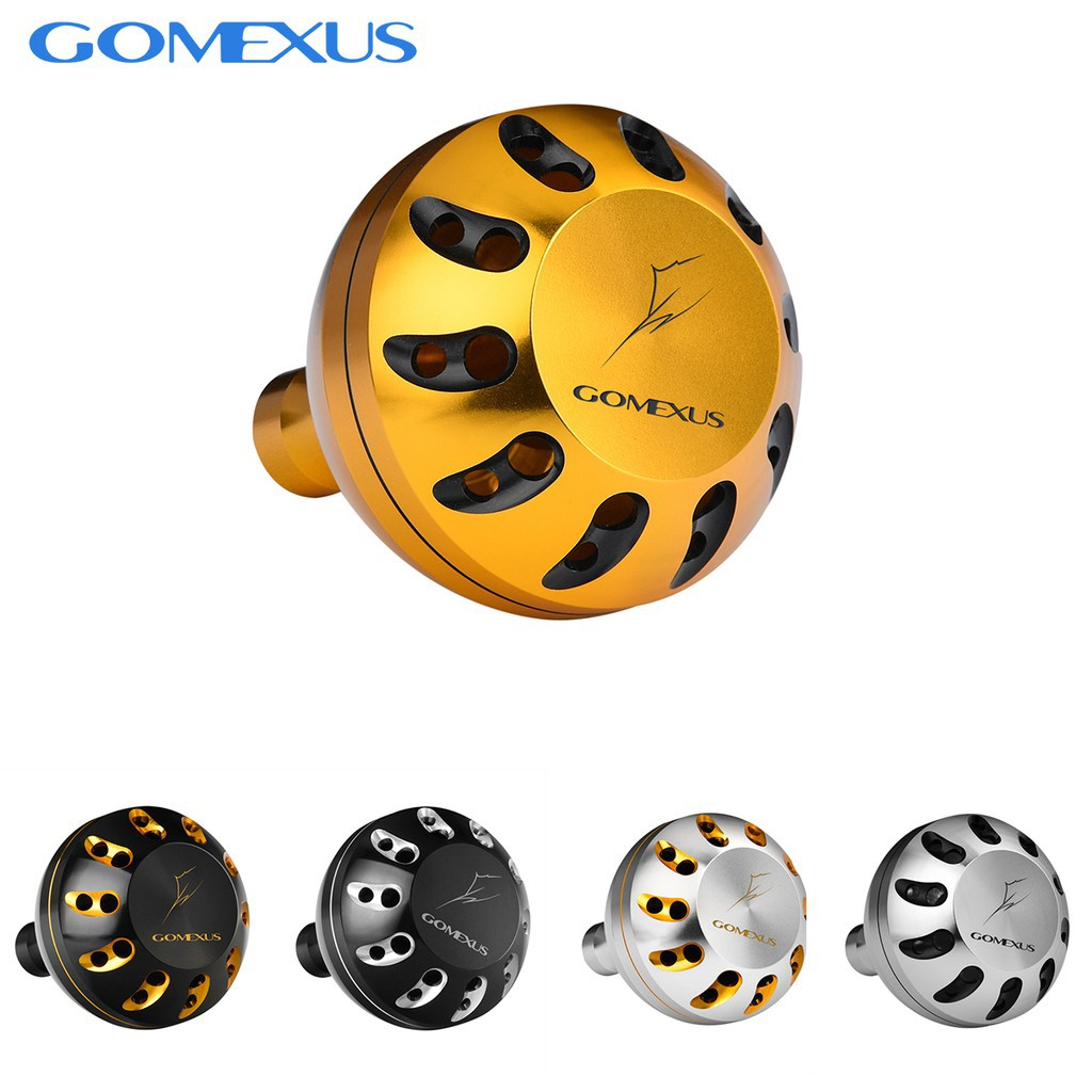 << 快速發貨 >> Gomexus 鋁合金握丸 45/47mm適用daiwa shimano 小烏龜 紡車輪 捲線器