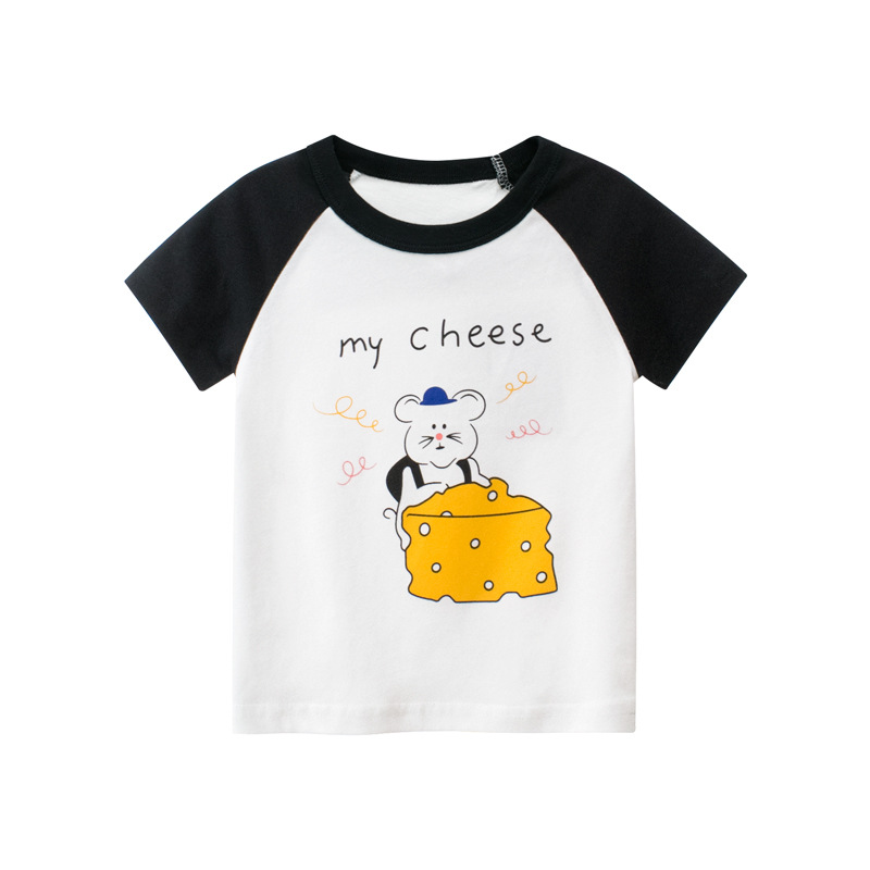 童裝夏季 女童短袖T恤 可愛卡通寶寶衣服純棉女童t恤