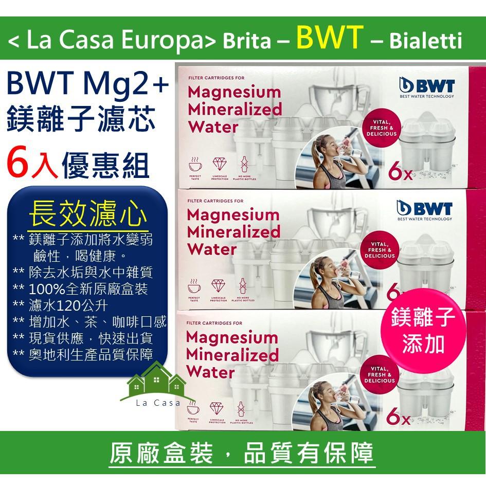 My BWT 含稅開發票 6入盒裝長效濾心 濾芯。2020.08製造。Mg2+鎂離子添加可濾水120公升。原廠盒裝。