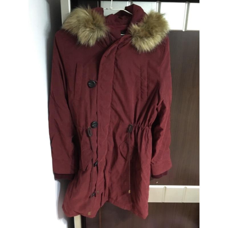 Bosch酒紅風衣外套
