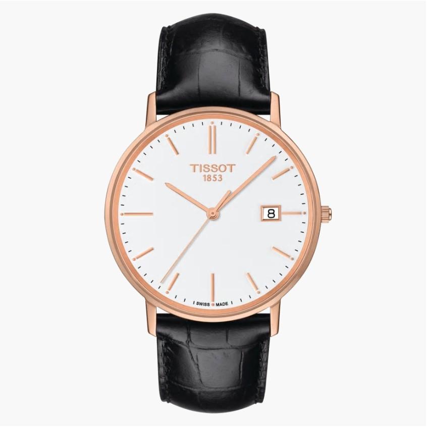 TISSOT天梭 T9224107601100 / 18K玫瑰金石英錶