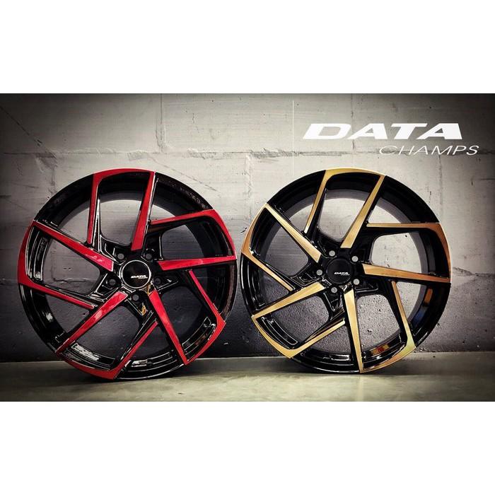 【頂尖】全新DATA 17吋鋁圈 VL04 5X100 108 114.3 7.5J 黑底古銅面 陽極紅 銀車面