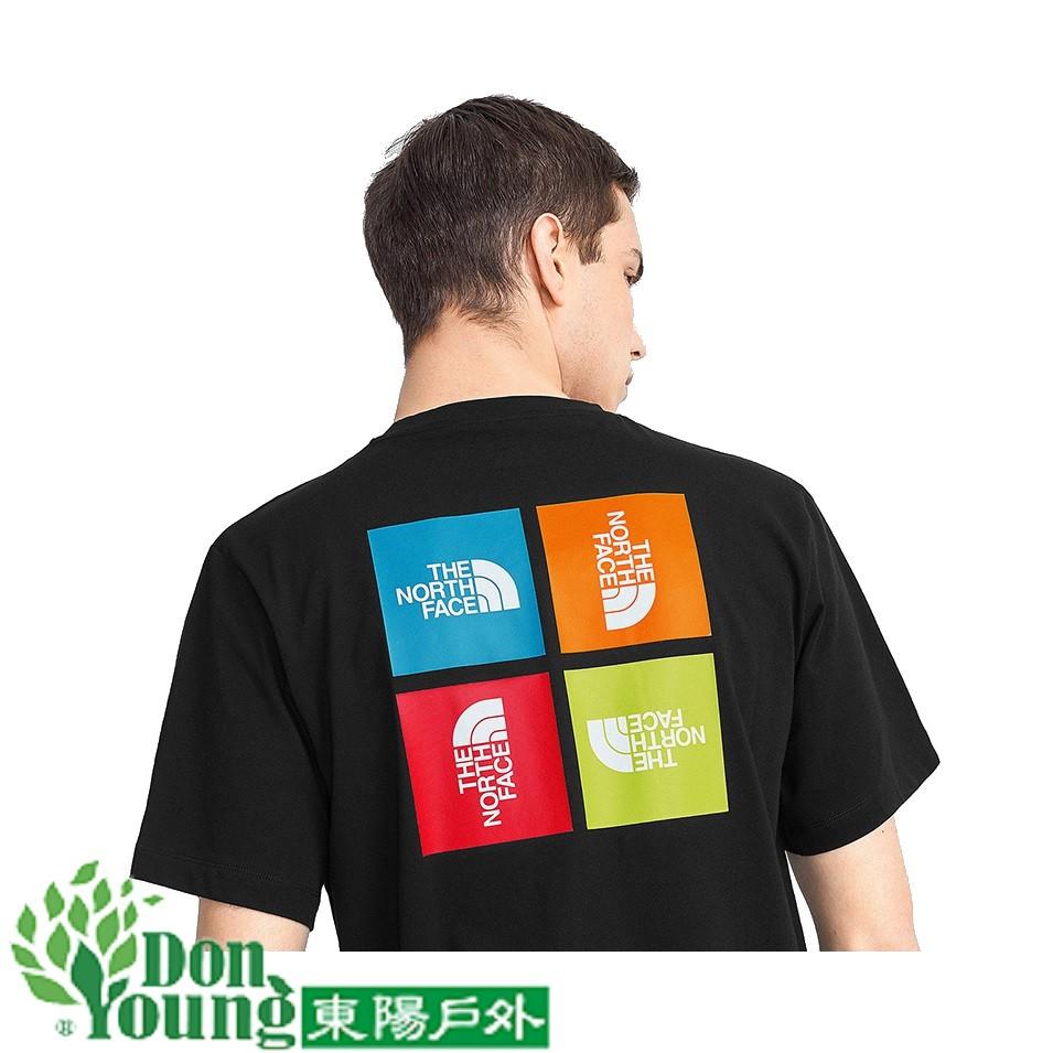 【THE NORTH FACE】北臉2021春夏新款中性短袖T恤 經典潮流 時尚搶眼 4U9I