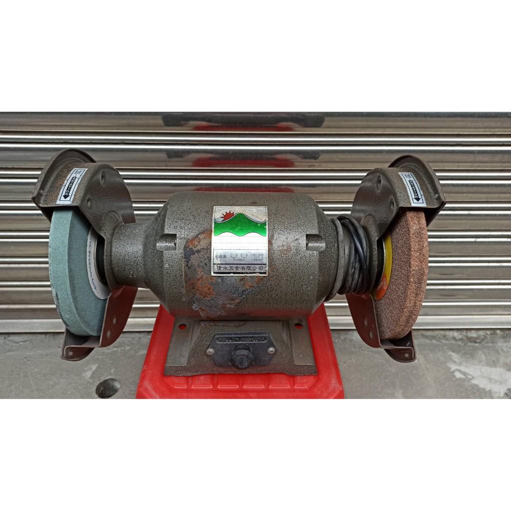 台灣製 低音型 桌上型 砂輪機 附粗細砂輪 110V/220V 1/2HP 磨刀機 拋光機 研磨機