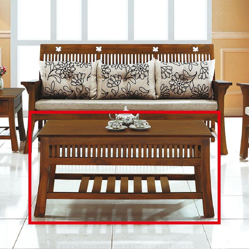 【102cm大茶几-E304-15】實木原木玻璃 大理石長方桌 大小邊几 圓桌 【金滿屋】