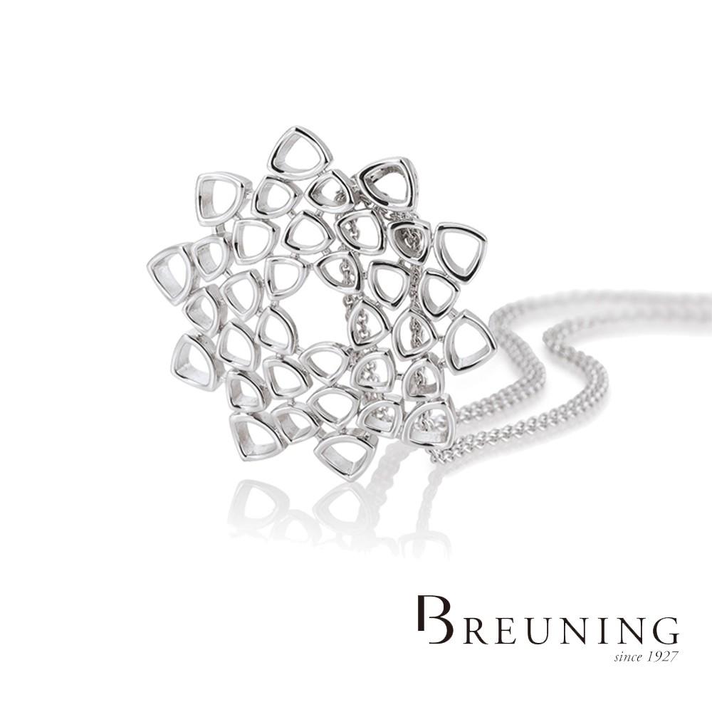 【德國 Breuning】925純銀 多角排列花朵墜