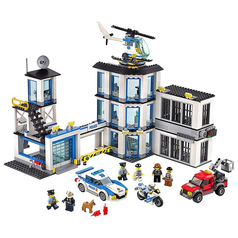 【電競積木】[11-18]LEGO樂高60141城市系列新版警察總局 警察局 公安局 警車積木玩具