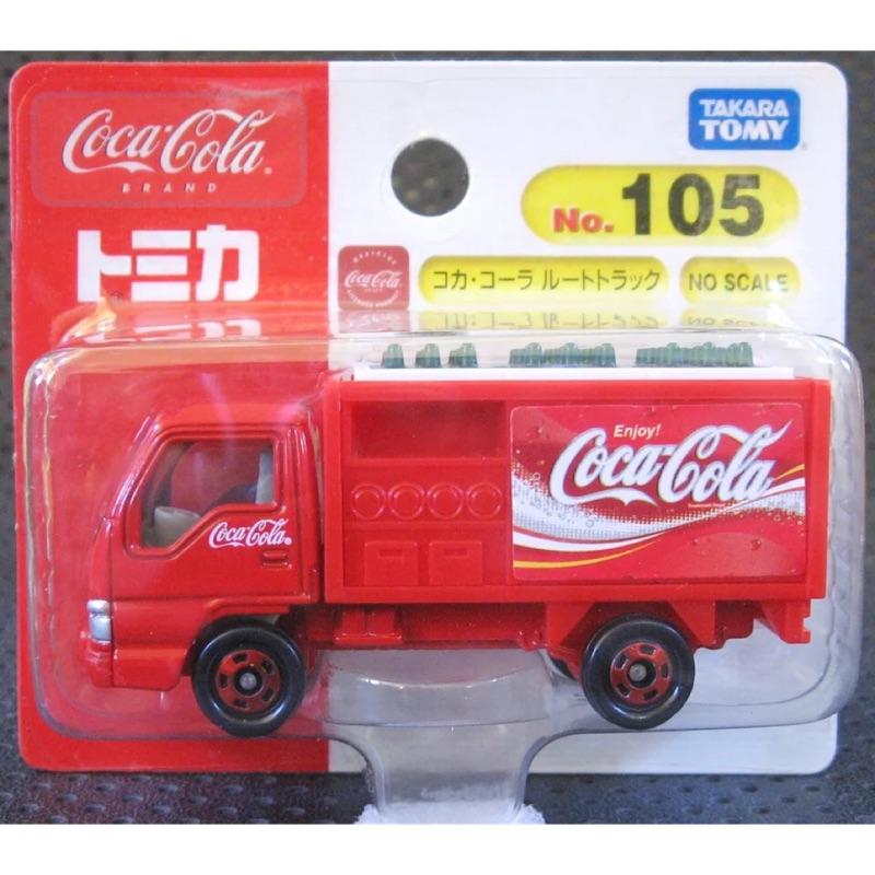 全新絕版Tomica吊卡No.105可口可樂配送車 Coca-Cola Route Car貨車 紅白 ISUZU ELF
