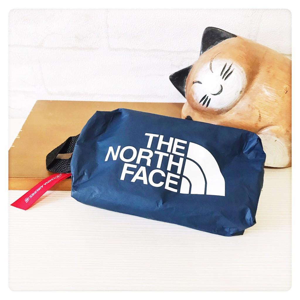 華航 THE NORTH FACE聯名款 豪經艙過夜包 盥洗包 收納包 化妝包 藍色 全新 [玩泥巴]