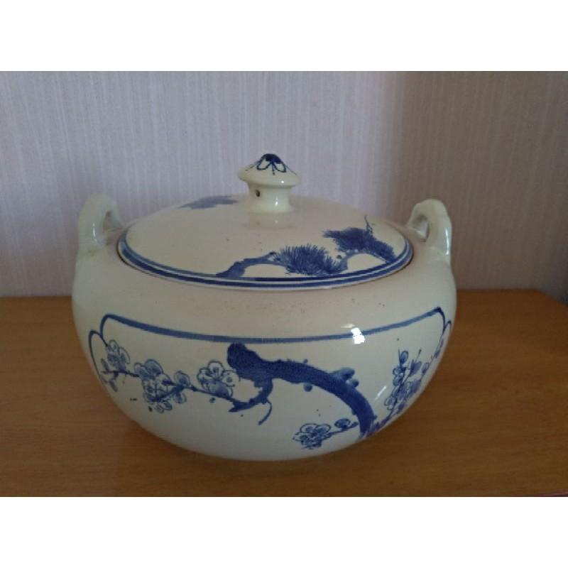 中國風 陶瓷 鍋子 料理 出清 庫存 早期 懷舊 汽鍋 手繪風