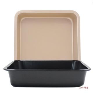 DIY正方形烤盤 不粘蛋糕模 6吋8吋正方形烤盤 披薩盤 蛋糕模具