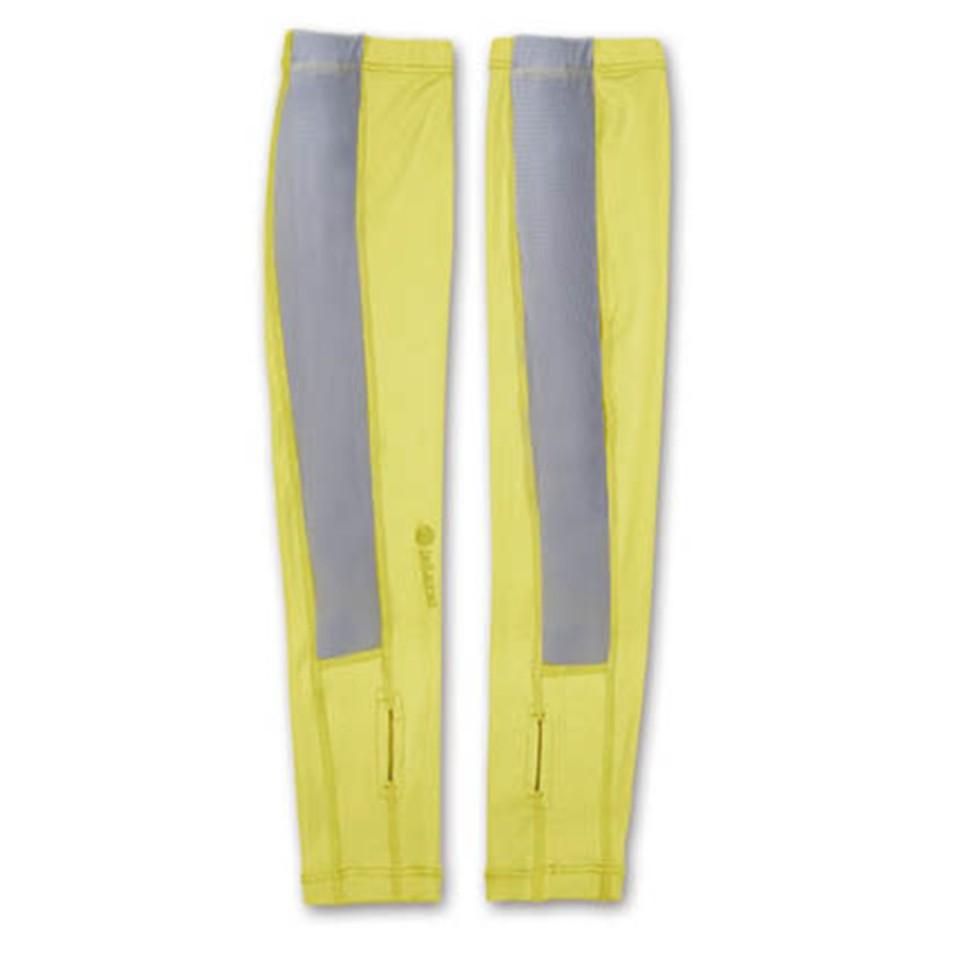 【Wildland 荒野】中性開洞抗UV透氣袖套W1801-40芥墨黃色 /防曬袖套/抗UV袖套/彈性排汗快乾/台灣製造