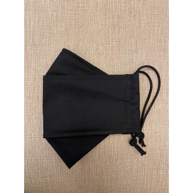 3D 舟型 船型 立體 純棉 布口罩 40支棉 (黑色)純手工車縫 台制
