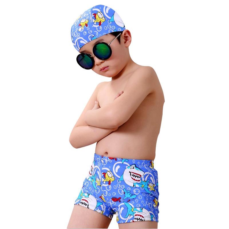 兒童泳裝 兒童泳衣 寶寶泳衣 泳褲男 speedo 泳褲兒童泳衣男童寶寶泳褲鯊魚分體平角游泳褲中大童短褲套裝小孩泳褲
