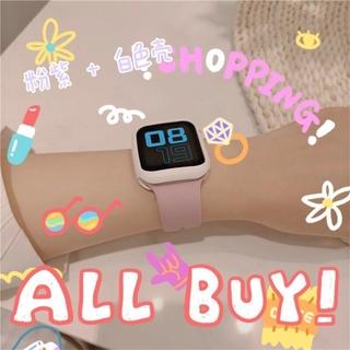 粉紫錶帶+白色殼 矽膠錶帶 適用於Apple watch 4/ 5/ 6/ SE 38mm 40mm 42mm 44mm 桃園市