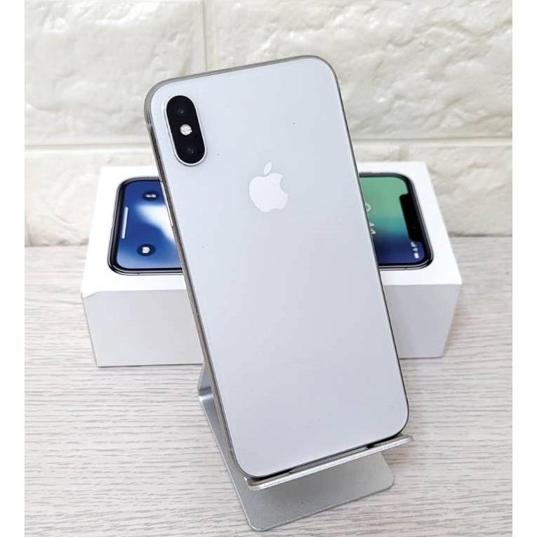 贈頂級配備/包膜 iPhone X 256GB 銀色 電池健康度100% 二手機 二手 中古機 中古 可無卡分期