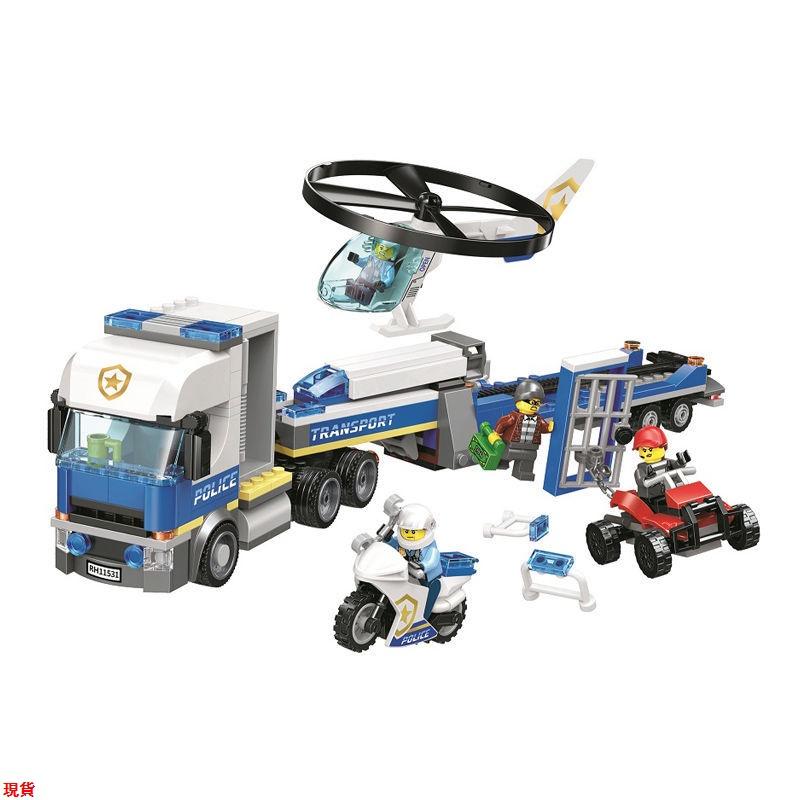 LaLa兼容樂高城市系列警察局警系局組兒童男孩子積木拼裝益智玩具警車