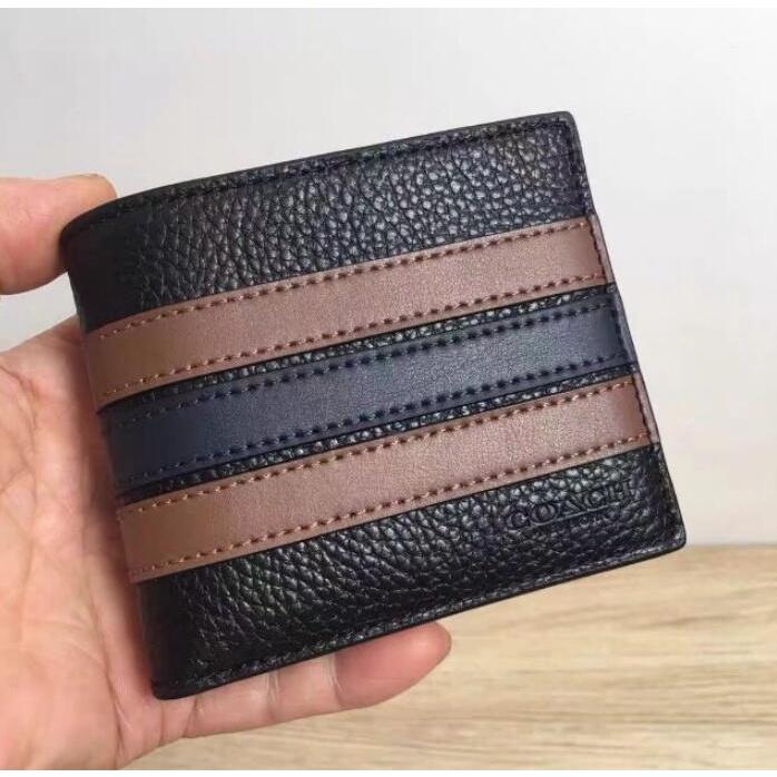 ㊣國際品牌COACH庫㊣美國代購COACH 3007 VARSITY條紋三合一錢包 短夾 皮夾 錢夾 送獨立證件夾