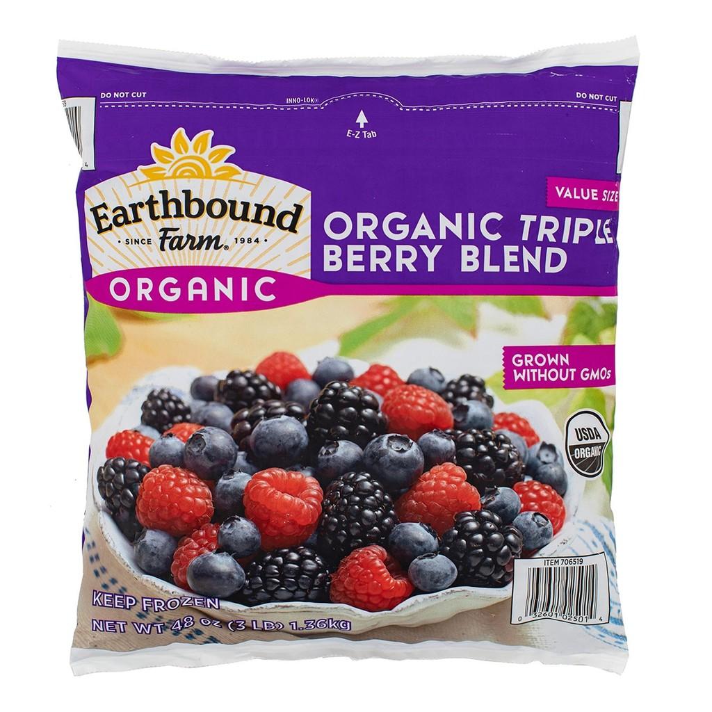 [#巧] Costco好市多代購 Earthbound Farm 冷凍有機三種綜合莓 1.36公斤*2包入