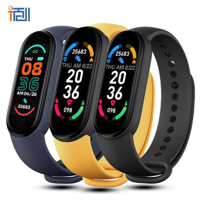 健康手環小米6代LED電子兒童學生表手表情侶夜光手表抖音網紅智能手環手表