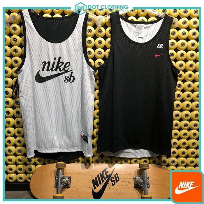 DOT聚點 Nike SB Reversible 球衣 背心 網眼 黑白色 小粉勾 雙面穿 透氣 886095-010