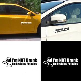 Sky _ Funny Not Drunk I'M Avoiding Potholes Car Sticker Truc