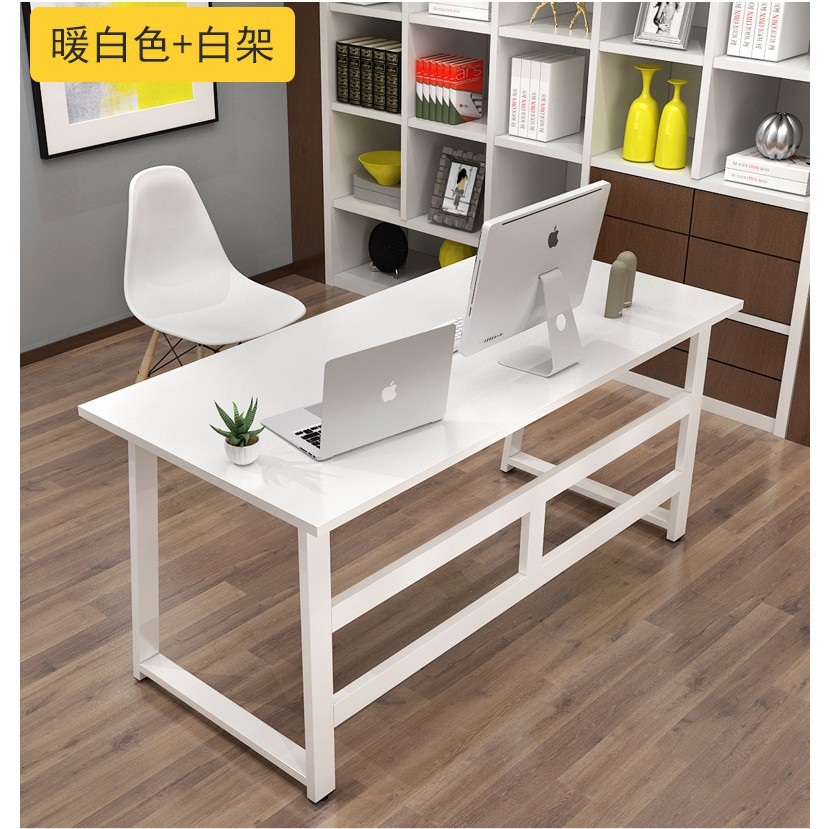簡約電腦桌臺式桌家用簡易小書桌現代辦公桌寫字臺雙人桌子經濟型